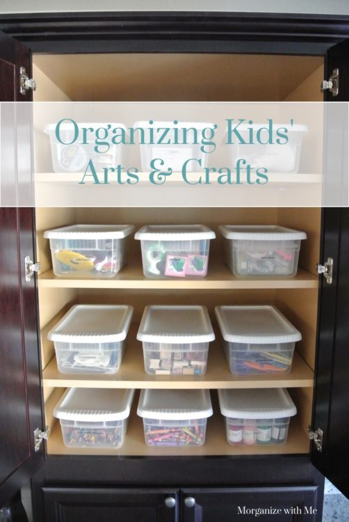 Organizing Kids Arts and Crafts at Im an Organizing Junkie blog