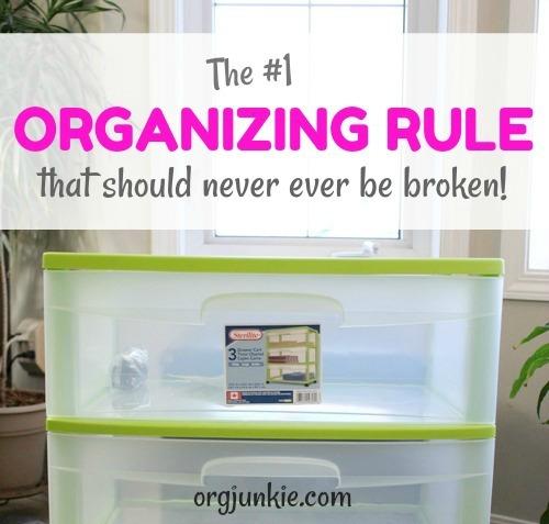 How I broke my own organizing rule