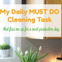 My Daily Must Do Cleaning Task that fires me up for a most productive day cropped