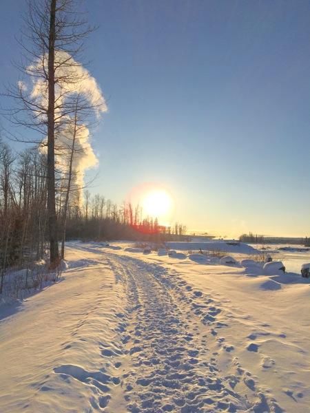 Beautiful sunny day in northern Alberta, Canada