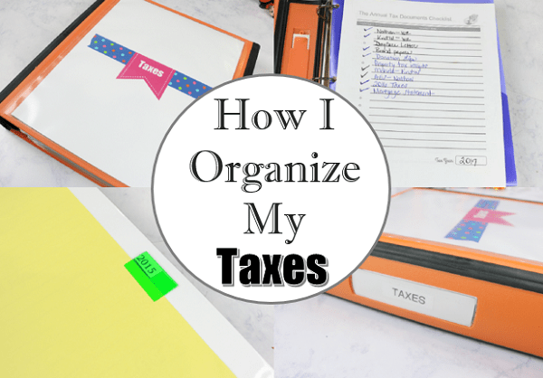 How to Easily Organize Tax Documents at I'm an Organizing Junkie blog