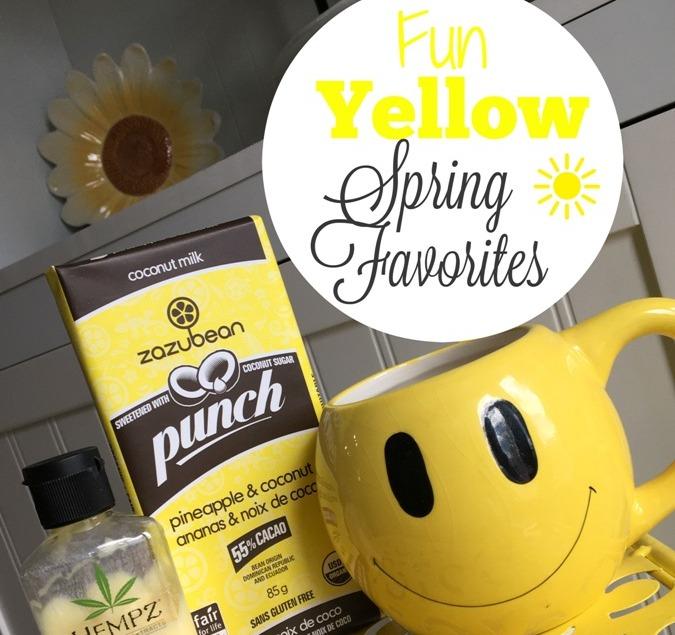 Fun Yellow Spring Favorites at Im an Organizing Junkie blog