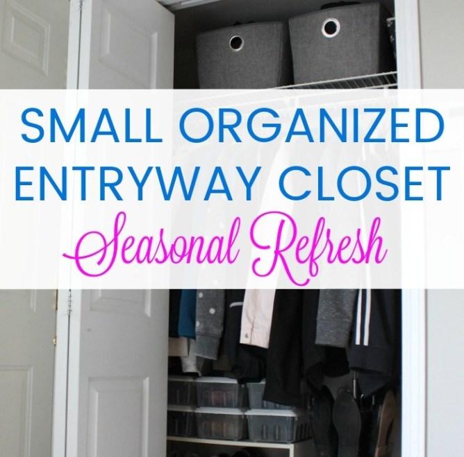 small organized entryway closet
