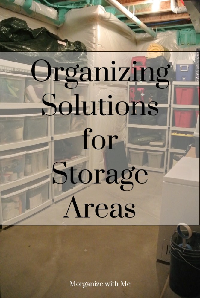 3 Great Organizing Solutions for Storage Areas at I'm an Organizing Junkie blog