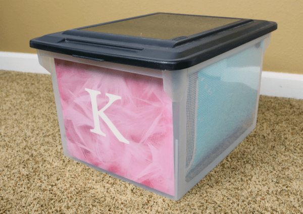 Organized School Memory Storage Boxes at I'm an Organizing Junkie blog