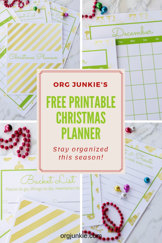2018 Free Printable Christmas Planner - Stay Organized this Season! at I'm an Organizing Junkie blog