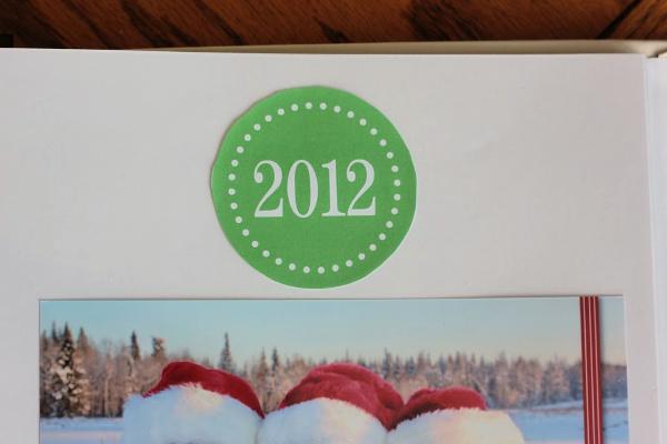 Christmas Card Photo Album