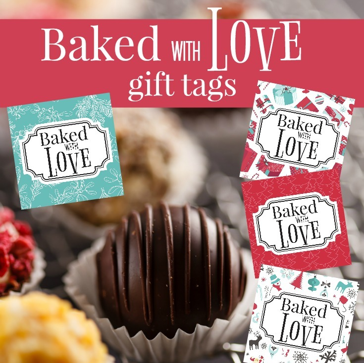Baked with love free printable gift tags