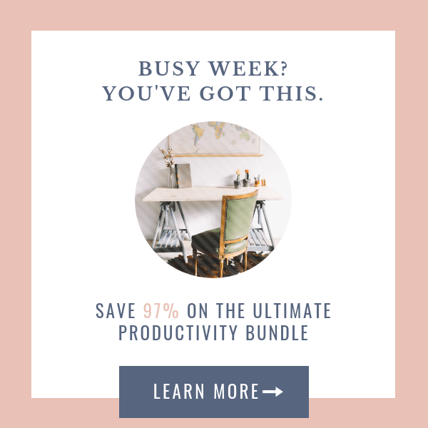 Limited Time Only: Ultimate Productivity Bundle Available Now! at I'm an Organizing Junkie blog