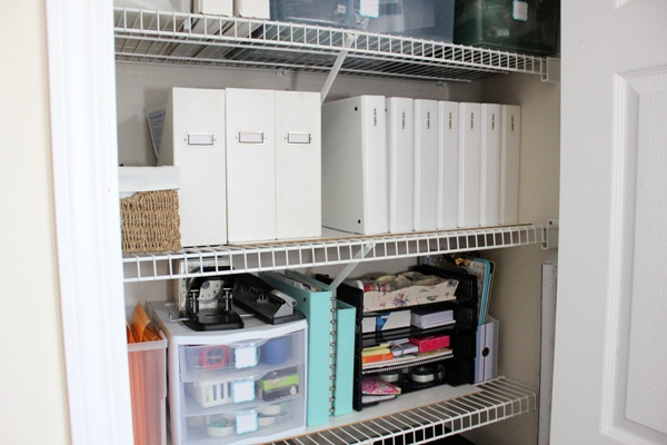 My Organized Office Closet