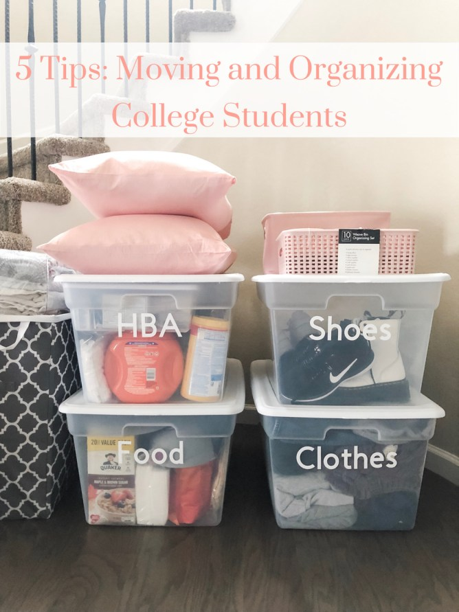 5 Tips for Moving and Organizing College Students at I'm an Organizing Junkie blog