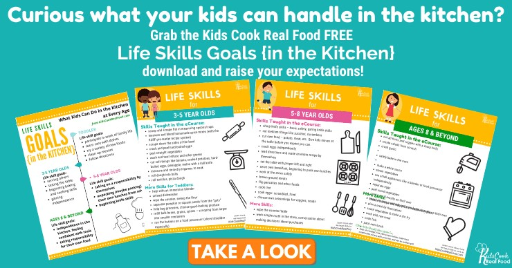 Life Skills Goals in the Kitchen Free Printable