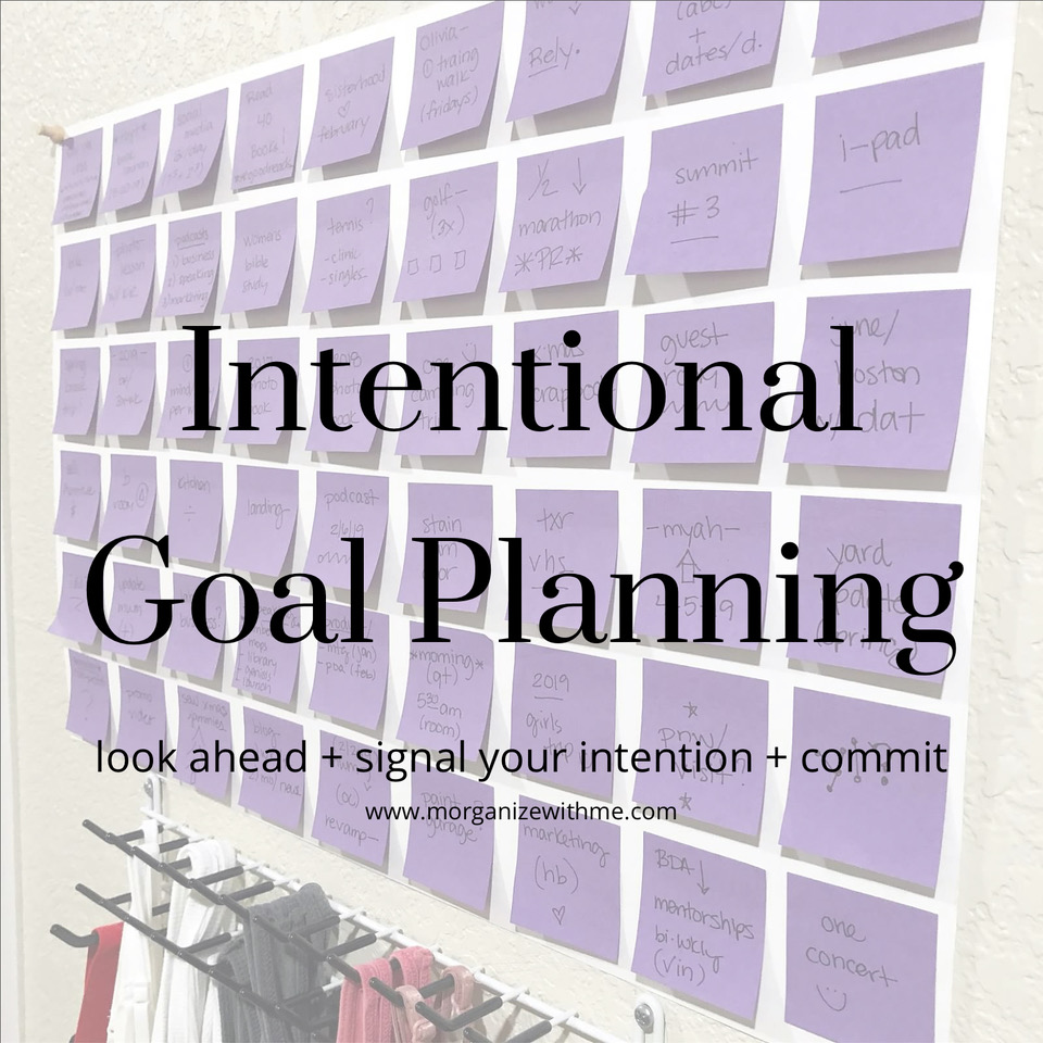 3 Necessary Steps for Intentional Goal Planning at I'm an Organizing Junkie blog