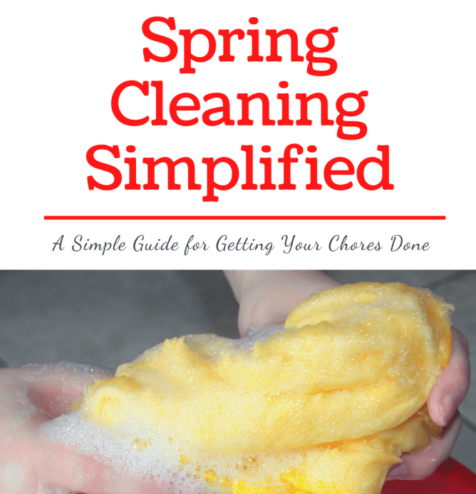spring cleaning simplified at I'm an Organizing Junkie blog