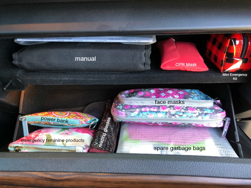 glove compartment organization