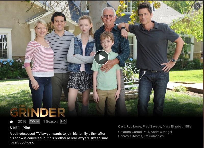The Grinder on Netflix