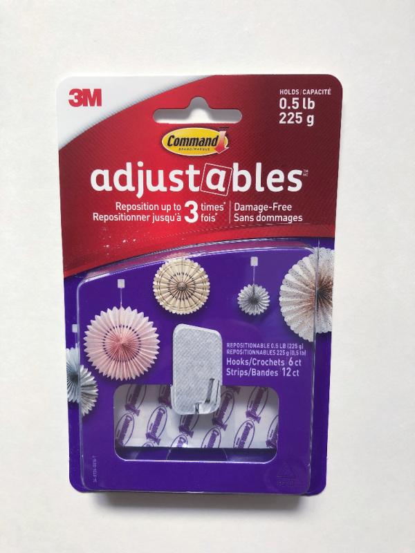 3M Adjustables Command Hooks