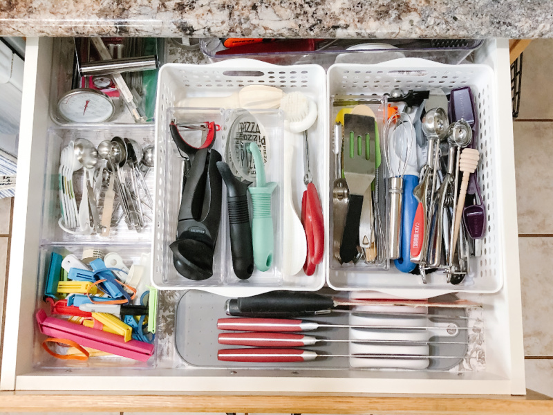 kitchen utensil drawer organization after
