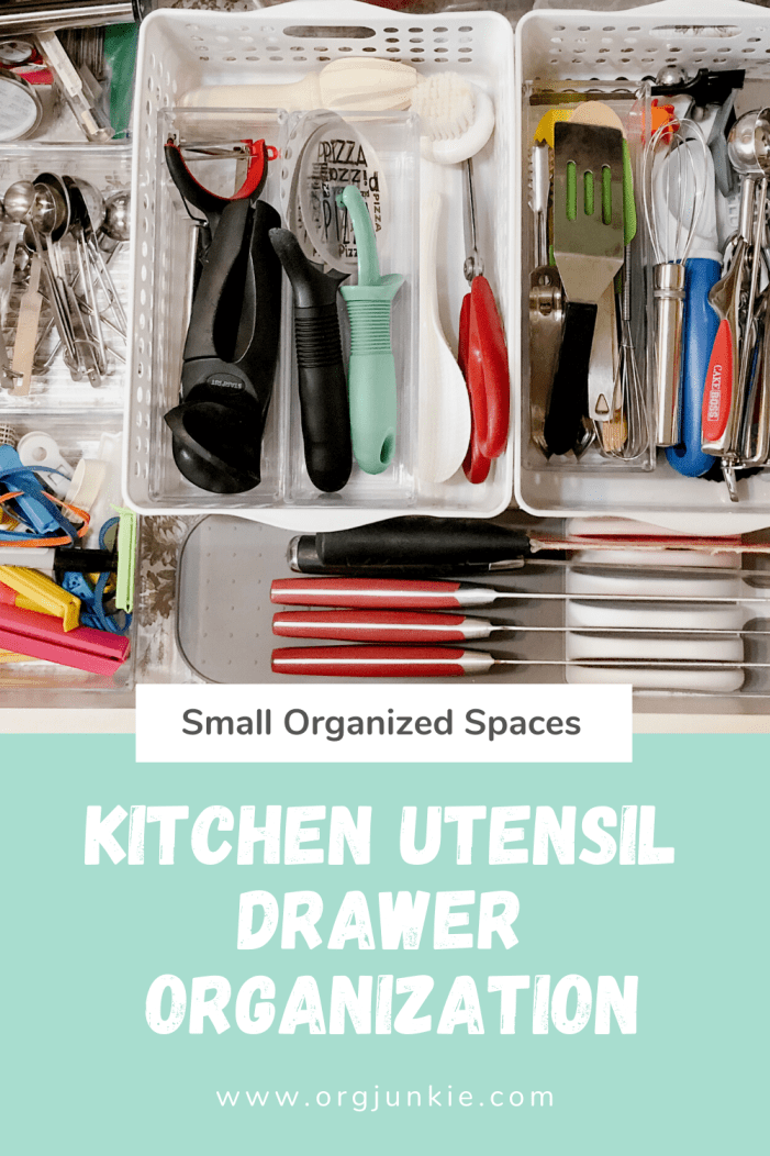 Small Organized Spaces: Kitchen Utensil Drawer Organization at I'm an Organizing Junkie blog