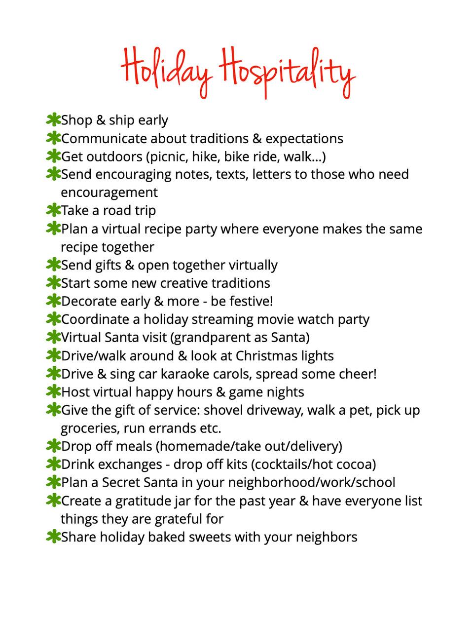 Holiday Hospitality
