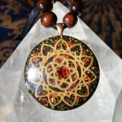 Sri Yantra Pendant with Sodalite