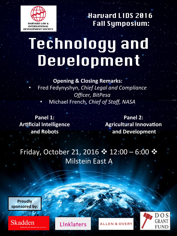 Fall 2016 Symposium  Harvard Law and International Development Society