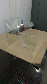 Прозрачный контейнер под товар