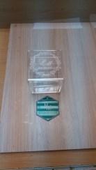 Коробочка для колец и табличка с гравировкой инициалов