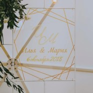 Таблички из прозрачного оргстекла на свадьбу