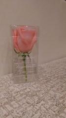 Акриловый бокс на 1 розу с гравировкой