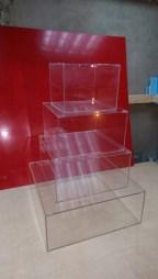 Квадратные подставки под торт из прозрачного акрила
