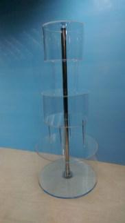 Трёхуровневая цилиндрическая подставка под торт
