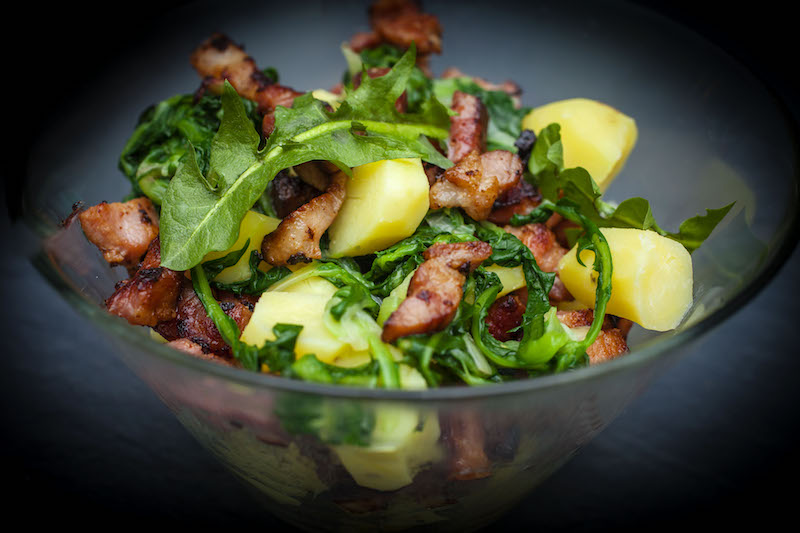 La recette de la Salade au lard «dèz Ardennes»