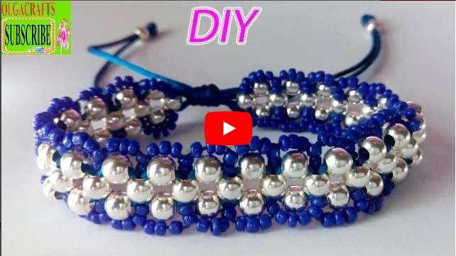 How to make bracelets with beads and string or thread tutorial diy chaquira beads and satin rattail