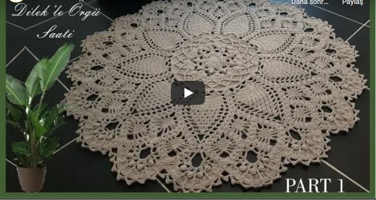 Tığ İşi Cotton İpten Yuvarlak Paspas Yapımı