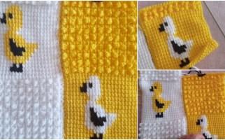 Civcivli Bebek Battaniyesi Yapımı