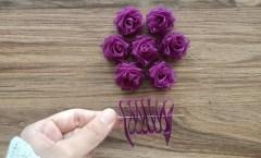 Kurdele ile Mükemmel Çiçek Yapımı / Wonderful Ribbon Flower Work / DIY Easy Flower Making