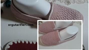 pudra pembesi ev ayakkabı modeli