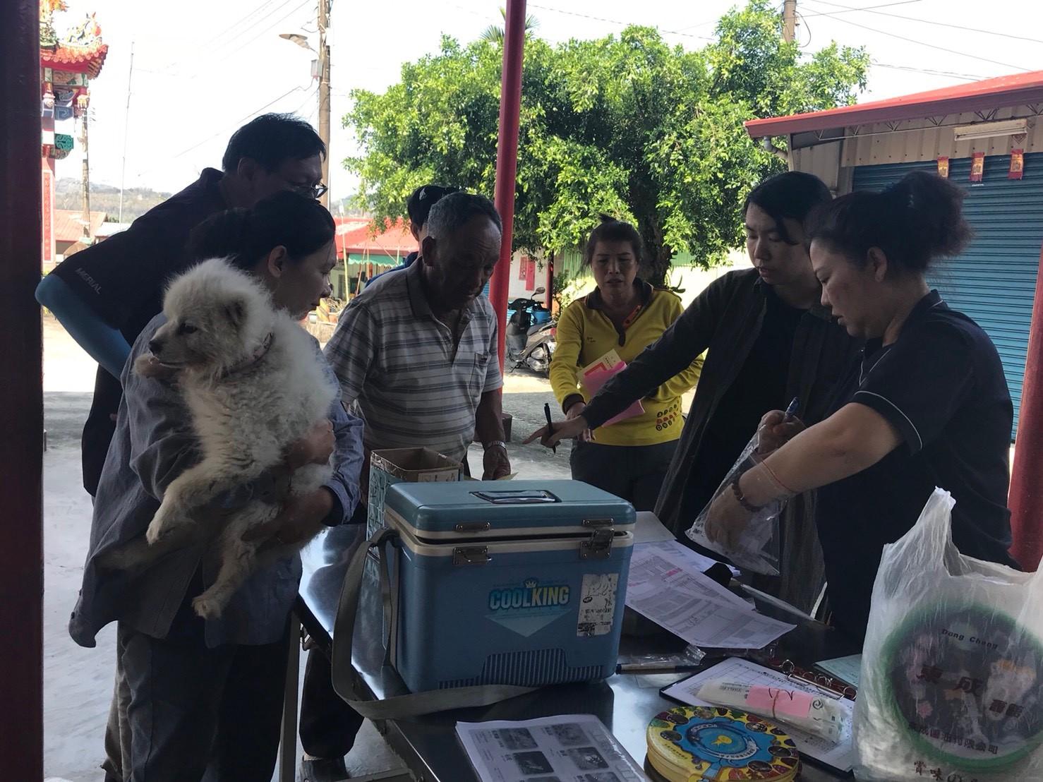 高雄市動物保護處辦理本區大津里施打狂犬病疫苗活動成果