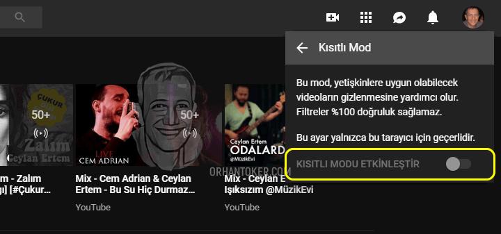 youtube-kisitli-mod