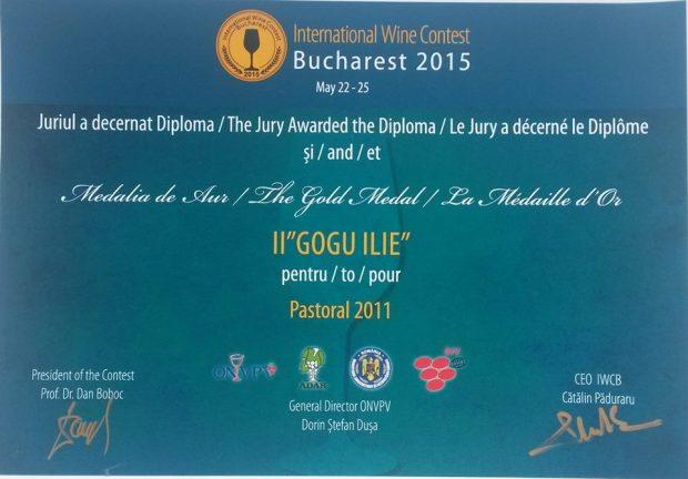 medalia de aur gogu winery