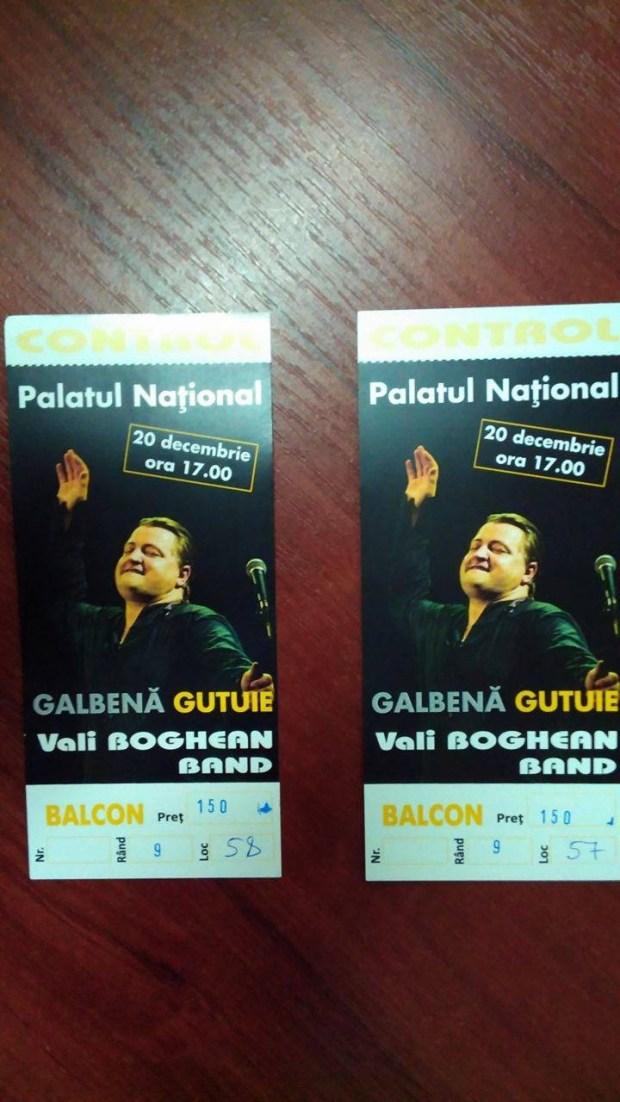 Valy Boghean bilete