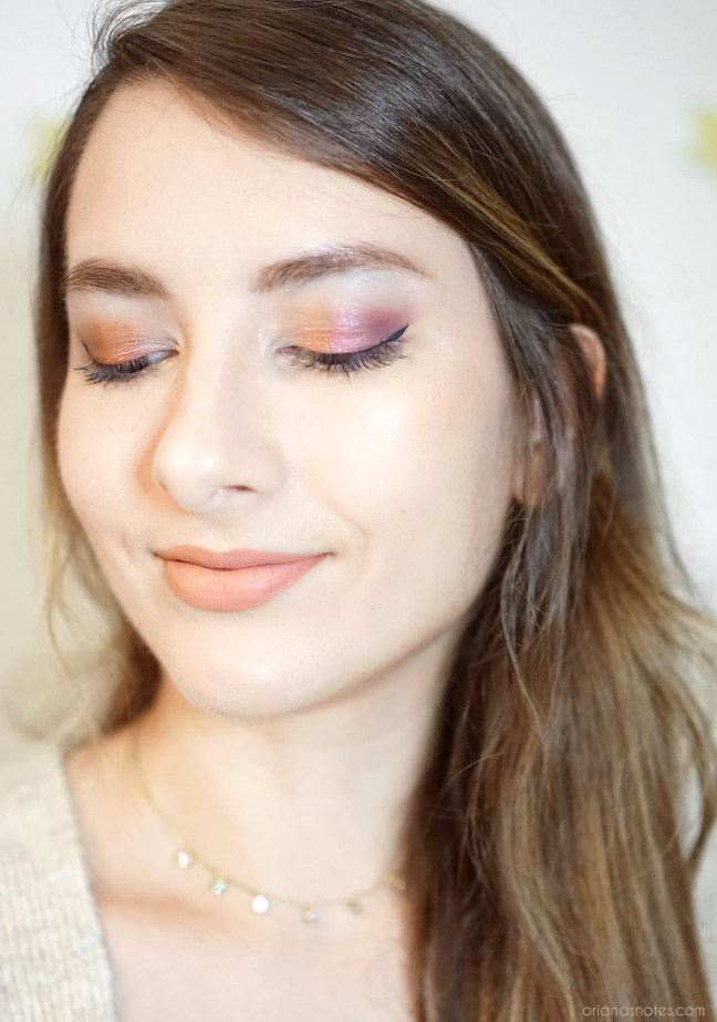 too faced gingerbread spice makeup look