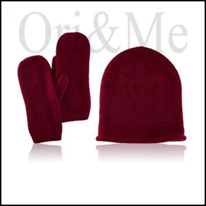 Burgundy Knit Gift Set