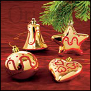 Gold and Glow Tree Deco Set