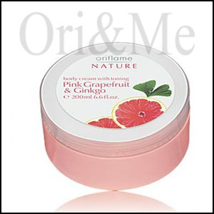 Body Cream with Toning Pink Grapefruit & Ginkgo