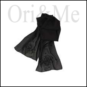 Black Evening Scarf