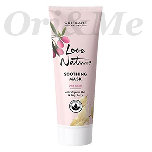 LOVE NATURE Soothing Mask with Organic Oat & Goji Berry