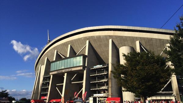 豊田スタジアムの外観20150822