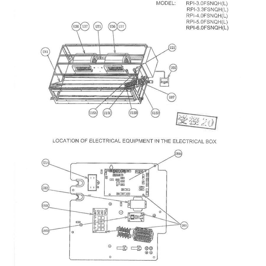 Hitachi PART NAME DRAW.NO 03-RPI-FSNQL-220V50HZ